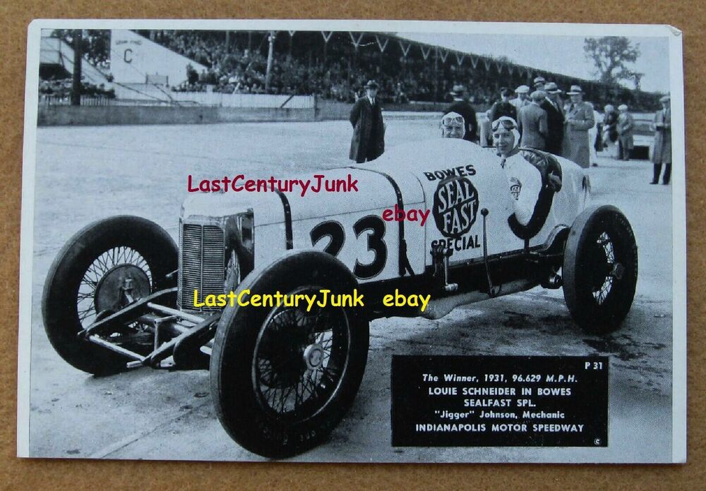 Souvenir photo indianapolis motor speedway winner 1931 for Indianapolis motor speedway clothing