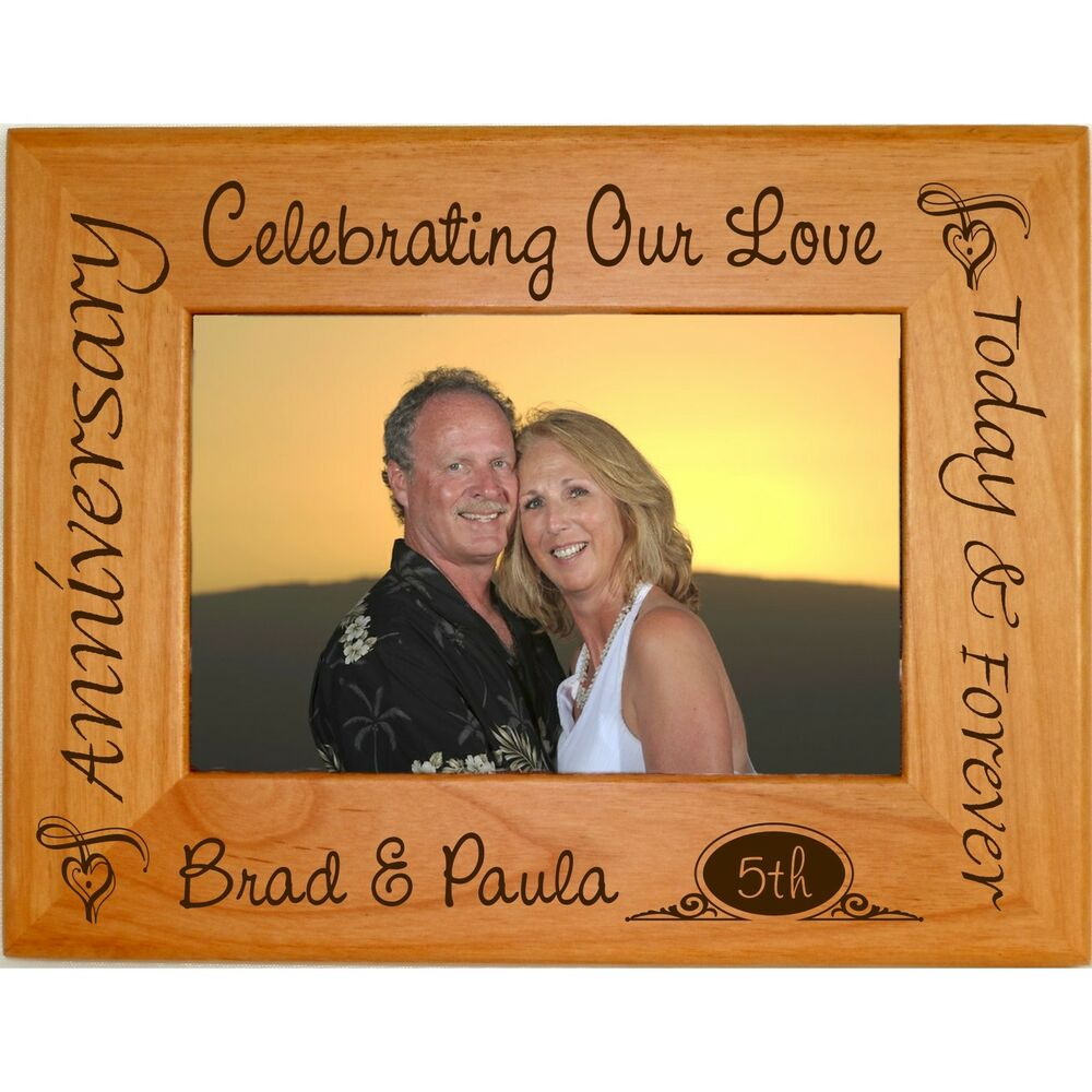 Personalized Wedding Picture Frames 8x10 : Personalized 4x6 5x7 8x10 Picture Frames Custom AnniversaryWeddings ...