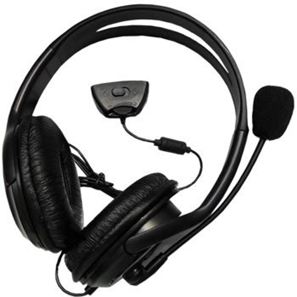 NEW DELUXE HEADSET HEADPHONE WITH MICROPHONE FOR XBOX 360 ...
