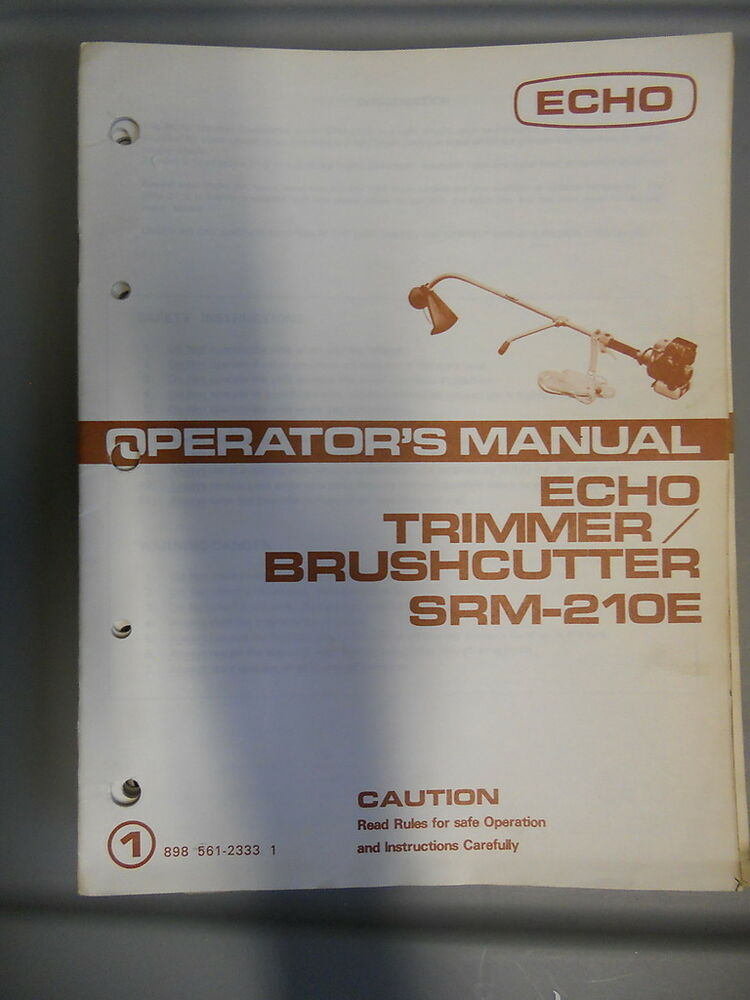 Trimmer repair manual Echo srm