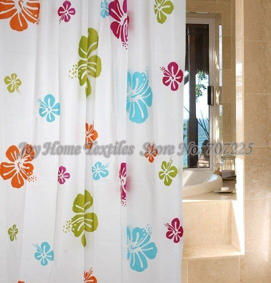 xl large extra long wide hot pink white lime green shower curtain 180 200 240 ebay. Black Bedroom Furniture Sets. Home Design Ideas