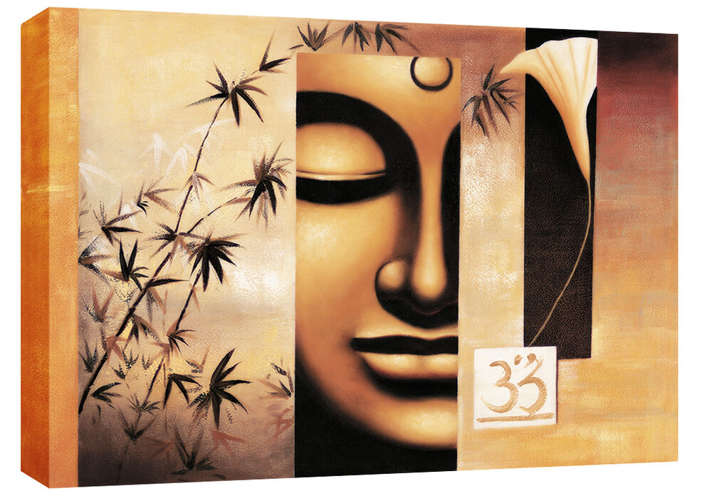 Large Buddha Canvas Picture Wall Art mounted & rdy 2 hang ...