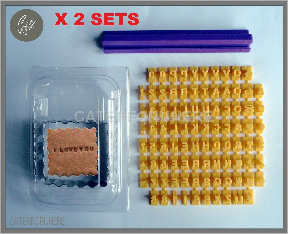 Letter Cutters For Cake Decorating : BISCUIT COOKIE ALPHABET LETTER NUMBERS STAMP EMBOSSER ...