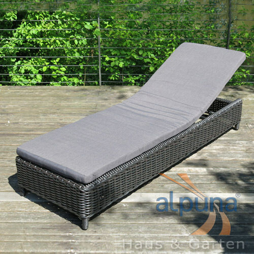 outdoor rattan sonnenliege 9mm rundfaser polyrattan ebay. Black Bedroom Furniture Sets. Home Design Ideas