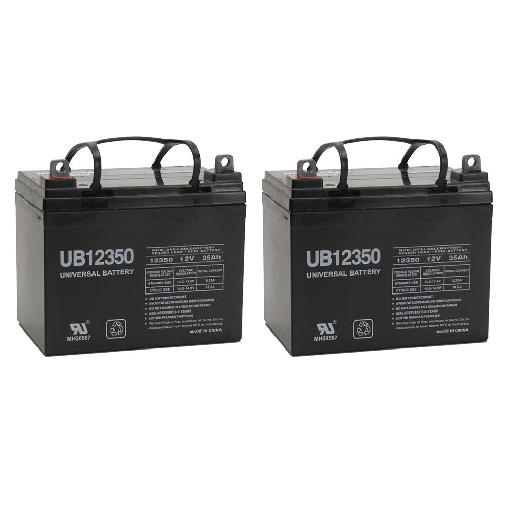 Upg 2 Pack Compatible Wheelchair Battery For Electric