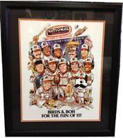 Baltimore Orioles And Natty Boh National Bohemian Framed 16x20 Photo