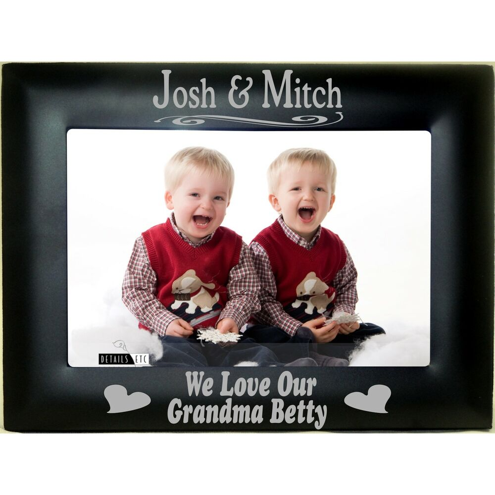 Personalized Grandparents Black Steel Picture Frames 4x6