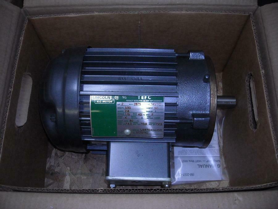 lincoln af2s2tc5005 lm18085 2 hp electric motor 500 volt