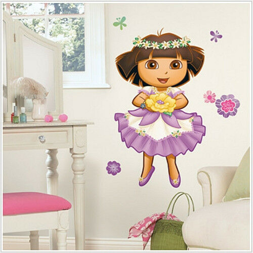 dora the explorer enchanted forest wall stickers 36 mural