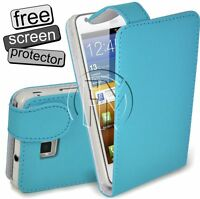 BLUE LEATHER FLIP CASE COVER POUCH FOR SAMSUNG GALAXY S2 I9100 GT-19100