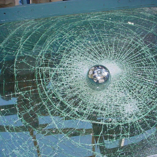 how to break 3m security glass