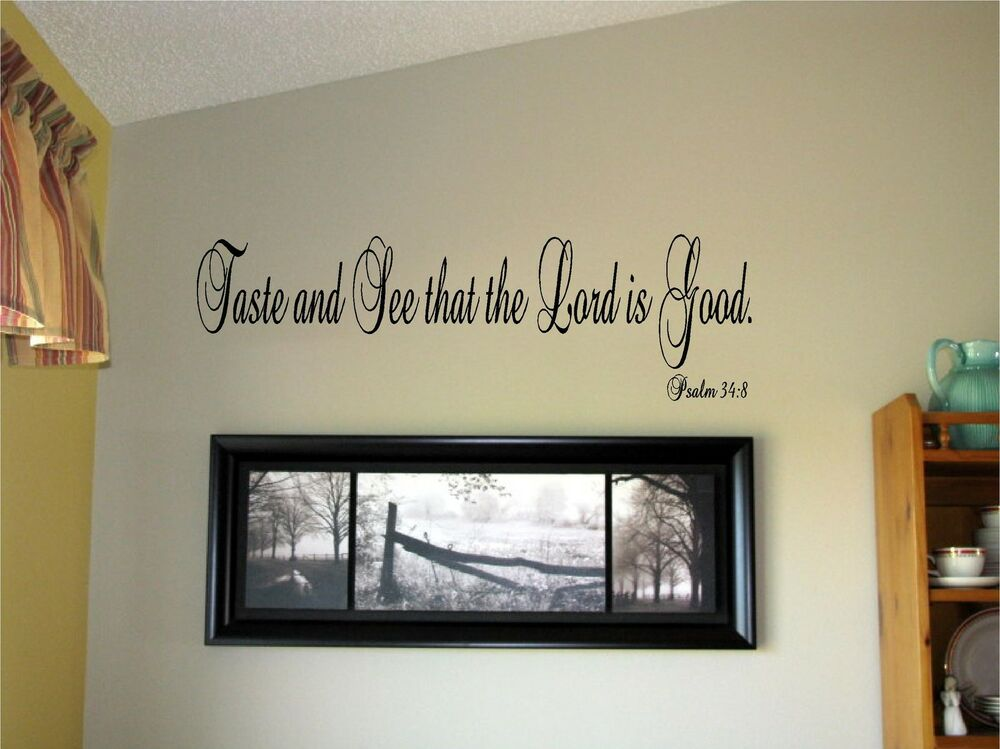 vinyl lettering for walls taste and see that the lord is vinyl wall words 25439 | s l1000