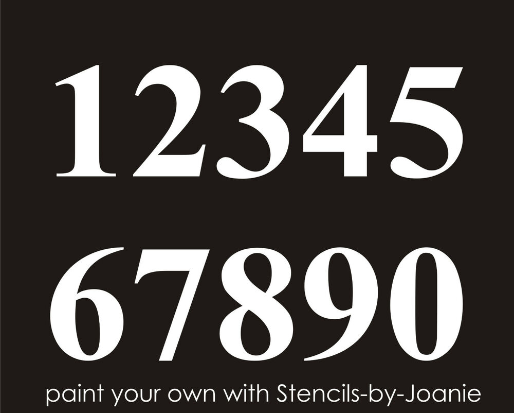 Stencil 5 Quot Numbers Bold Lake House Address Home Wedding