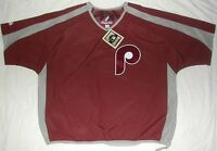 PHILLIES MAJESTIC COOPERSTOWN COLLECTION PULLOVER JACKET WINDBREAKER MEN'S L XL