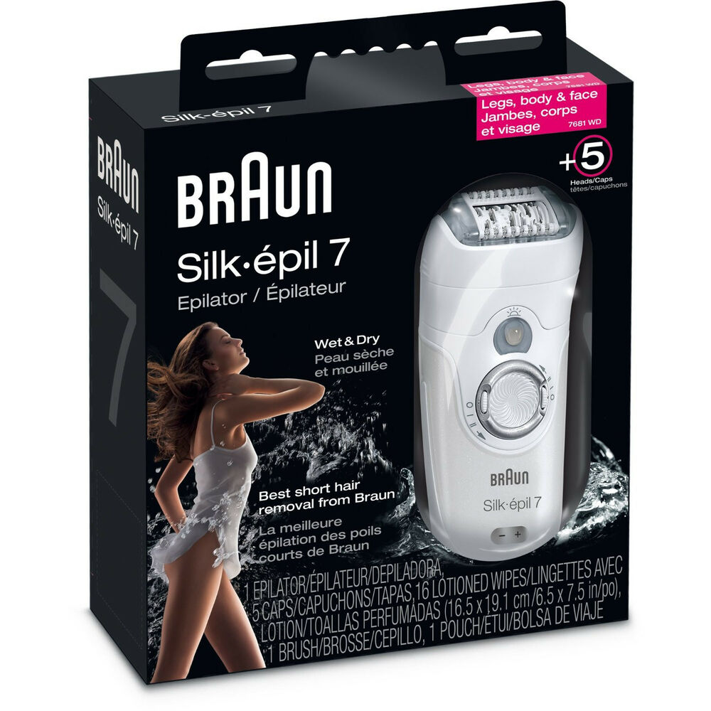 new braun 7681 silk epil 7 xpressive pro womens epilator se7681wd hair remover ebay. Black Bedroom Furniture Sets. Home Design Ideas