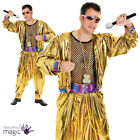 Mens 80s 90s Pop Rap Star Rapper MC Hammer Music Gold Singer Fancy Dress Costume