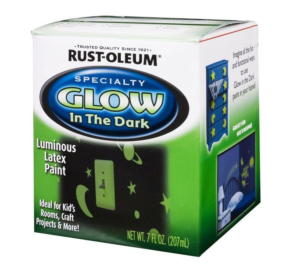 Rust oleum 214945 6 pack 7oz glow in dark paint ebay - Rust oleum glow in the dark paint exterior collection ...