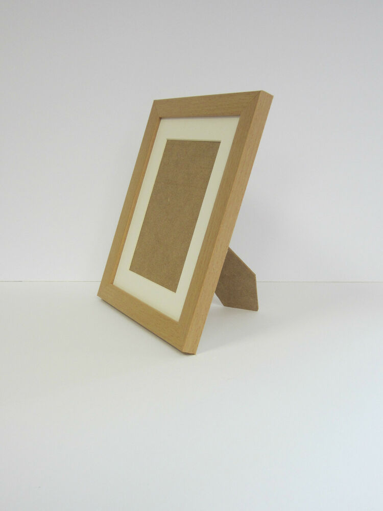 beech effect 4x5 picture photo frame mount 2x3 free