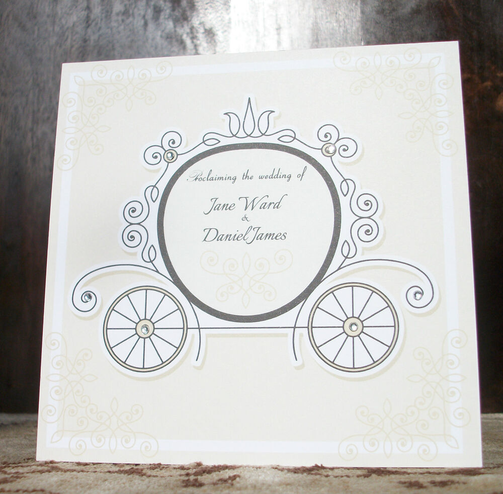 Victorian Fairytale Traditional Size Wedding Invitations – Cinderella Wedding Invitations