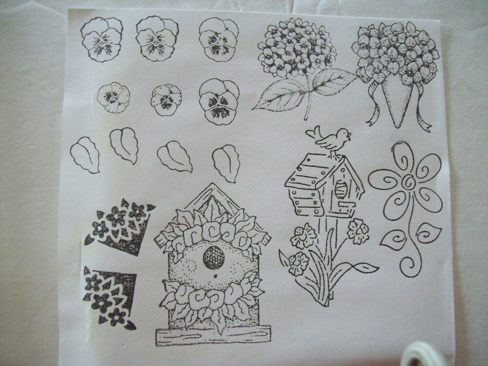 The Angel Company Unmounted Rubber Stamp Set Birdhouse