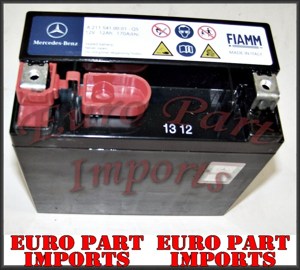Mercedes benz secondary backup auxiliary battery genuine for Mercedes benz ml350 battery