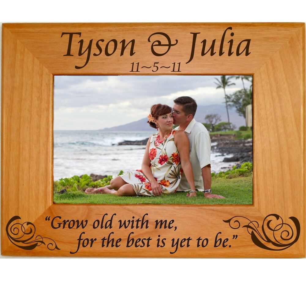Personalised Photo Frame Wedding Gift: Personalized 4x6 5x7 8x10 Picture Frames Custom