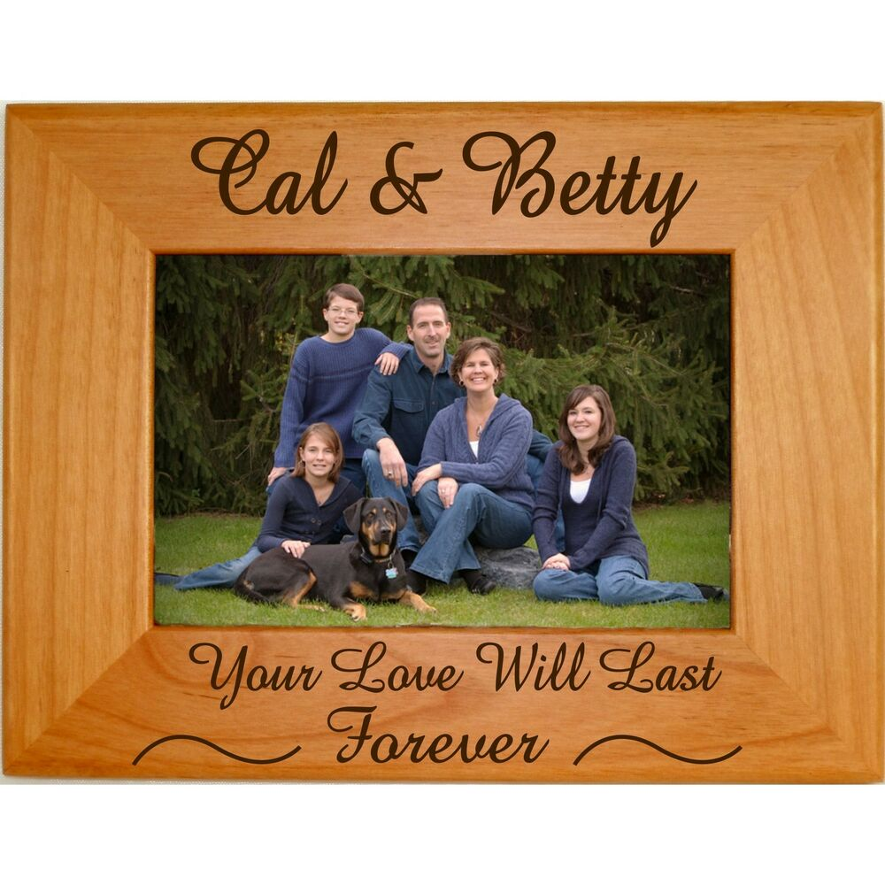 Personalized Family Wood Picture Frames 4x6 5x7 8x10