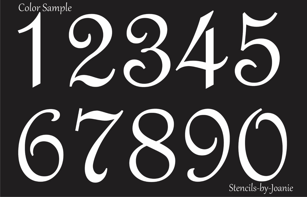 STENCIL Paris French Script Numbers Bride Lake House ...
