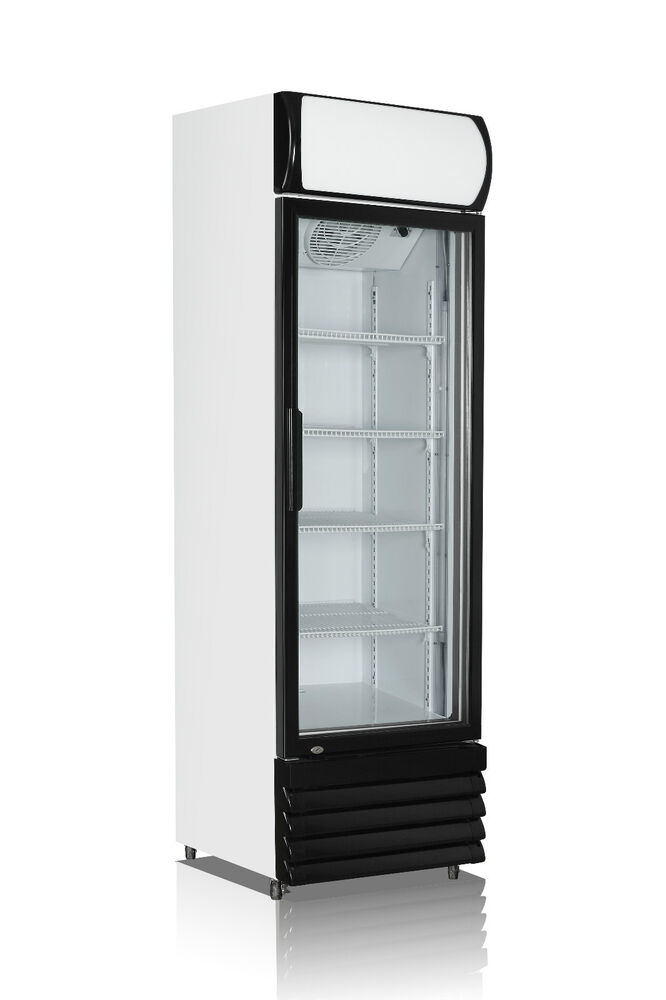 Single Door 540l Commercial Upright Glass Display Drink