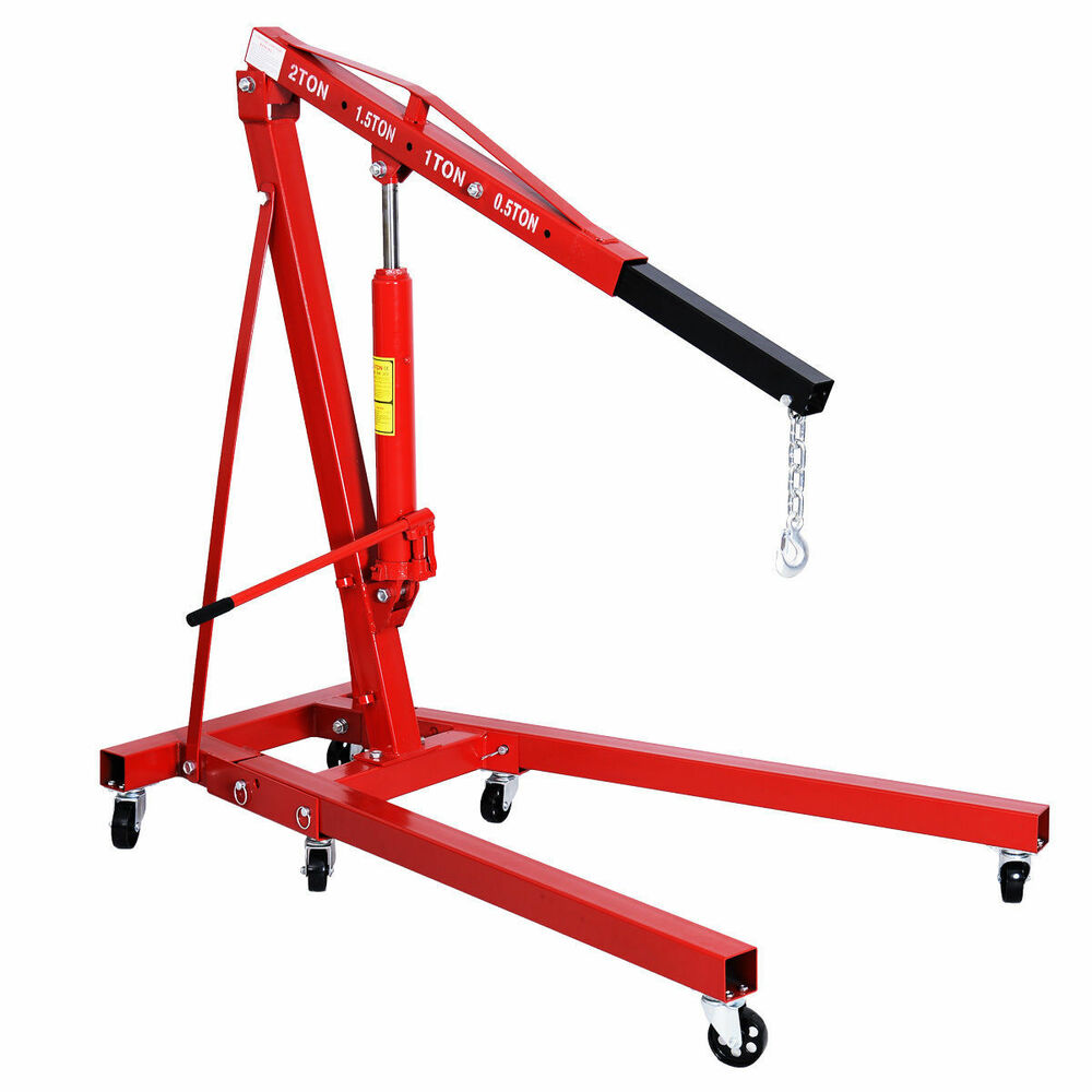 2 ton folding cherry picker hd 2 ton engine hoist crane for Motor lift for sale