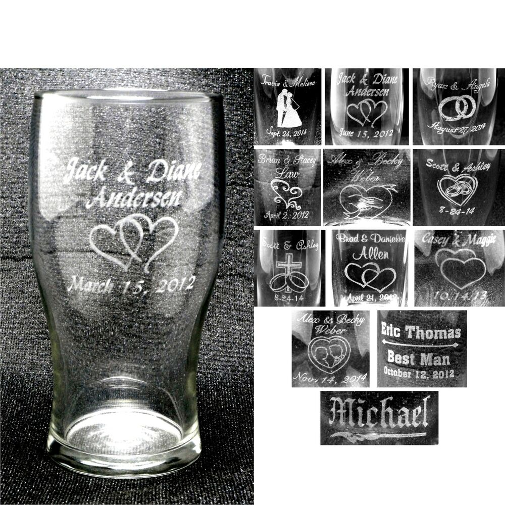 Wedding Party Gift Ideas For Groomsmen Canada : ... Glasses Custom Wedding Party Groomsmen Anniversary Gifts eBay