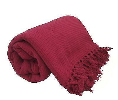 LARGE BURGUNDY WINE 100 Cotton Sofa Bed Throw 228x254 eBay : s l1000 from www.ebay.co.uk size 1000 x 854 jpeg 89kB