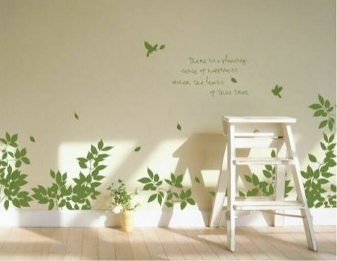 Details About Bird Tree Branch Wall Art Stickers Vinyl Decal Removable Home Decor Mural Kids