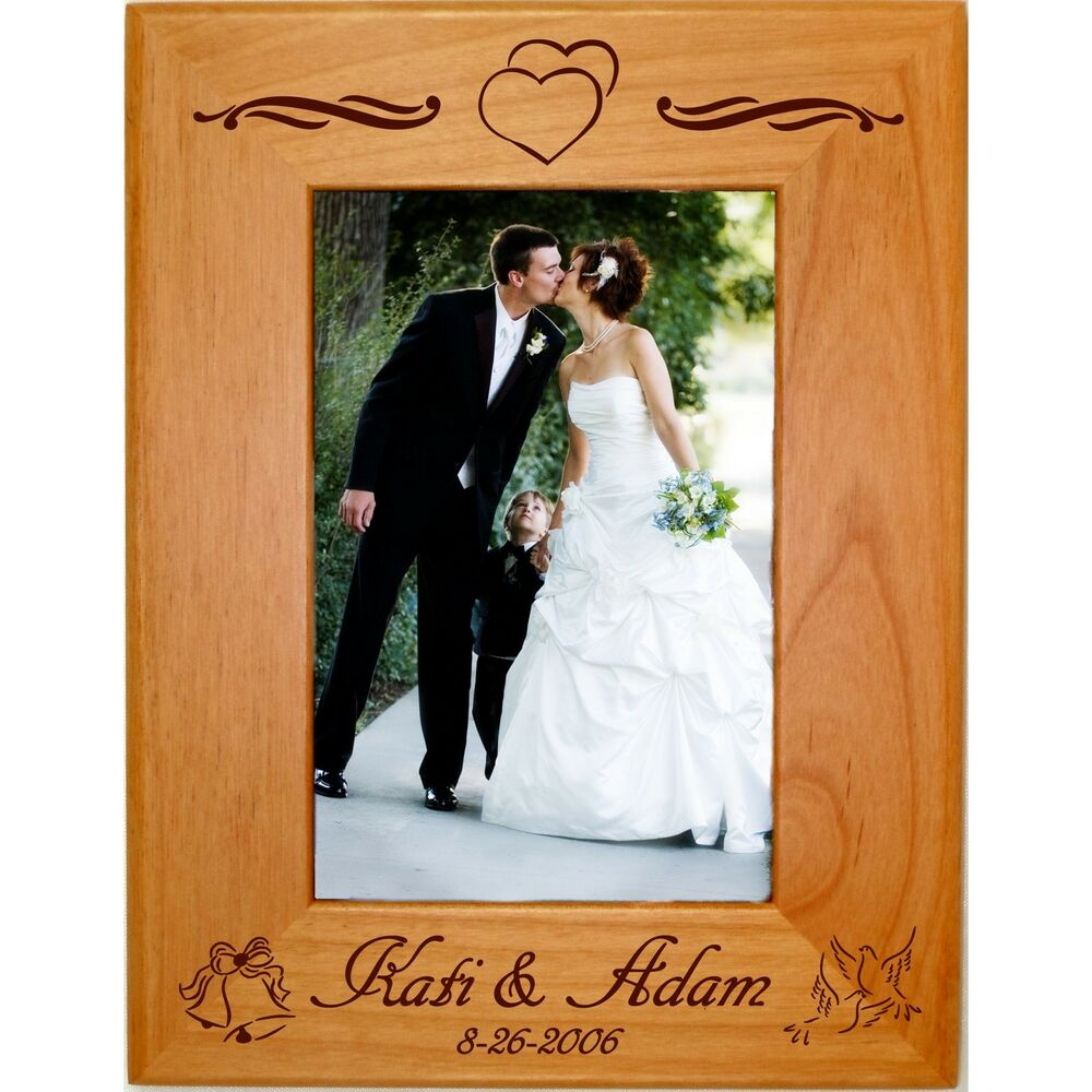 Personalized Wood 4x6 5x7 8x10 Picture Frames Custom