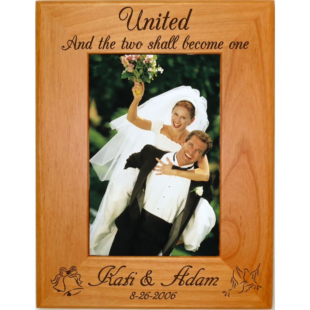 Personalized Wood 4x6 5x7 8x10 Picture Frames Custom Wedding Party ...