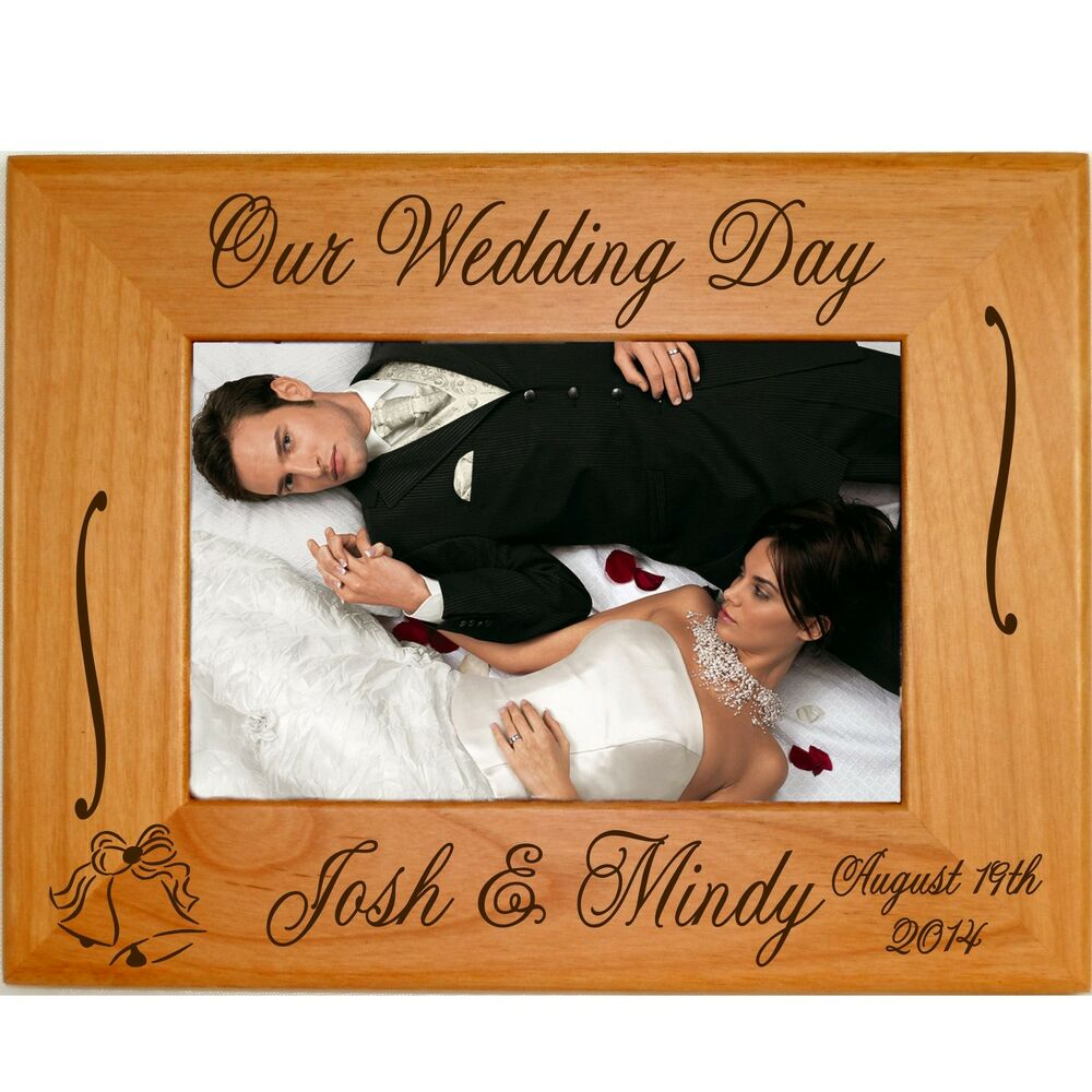 Personalized Wood 4x6 5x7 8x10 8.5x11 Picture Frames Custom Wedding ...