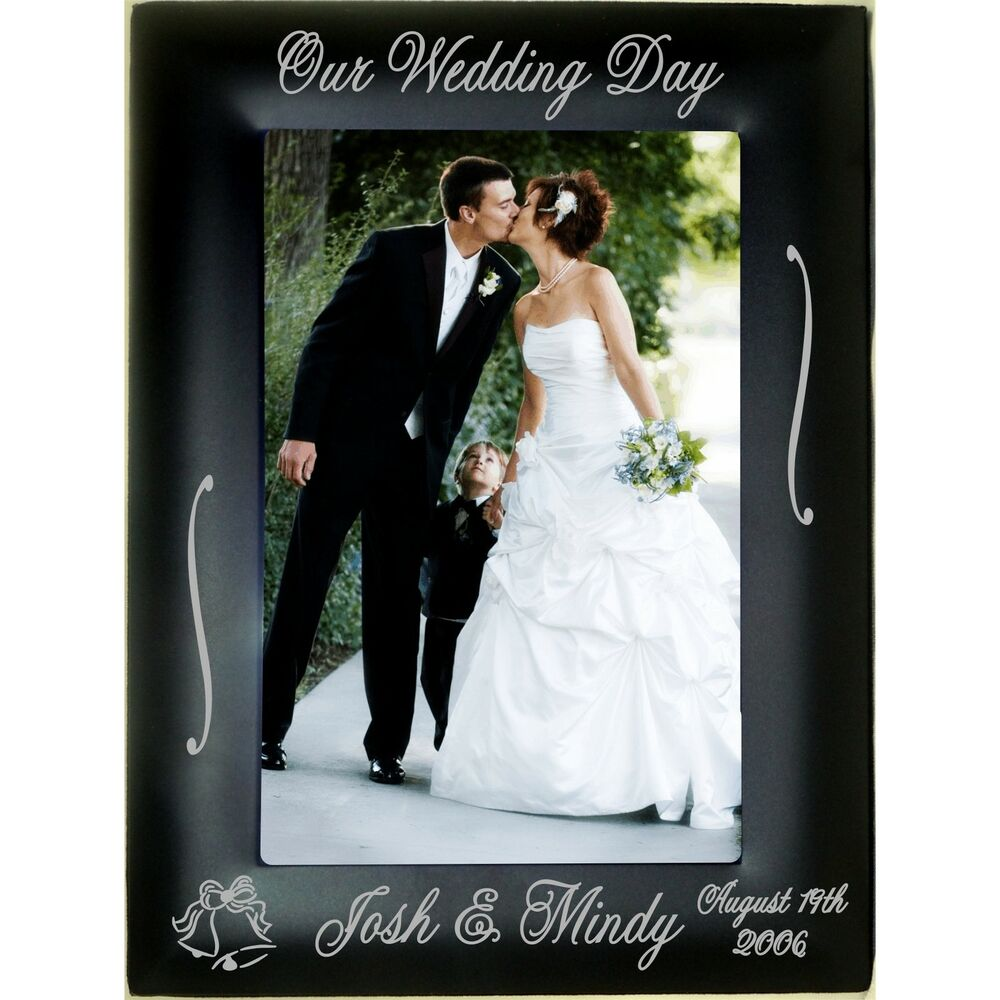 Personalized Metal 4x6 5x7 8x10 Picture Frames Custom Wedding Gifts Photos