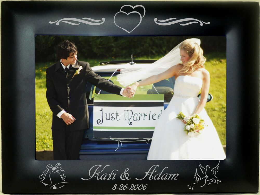 Personalized Wedding Picture Frames 8x10 : Personalized Metal Picture Frames 4x6 5x7 8x10 Wedding Decorations ...