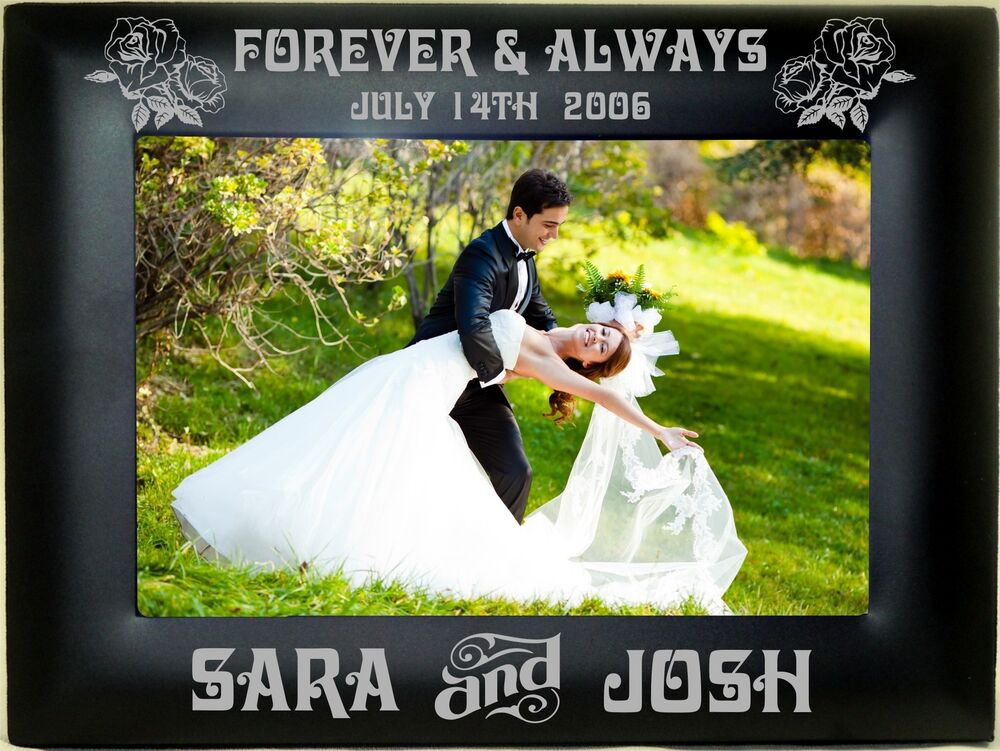 Personalized Metal Picture Frames 4x6 5x7 8x10 Custom Wedding Couple ...