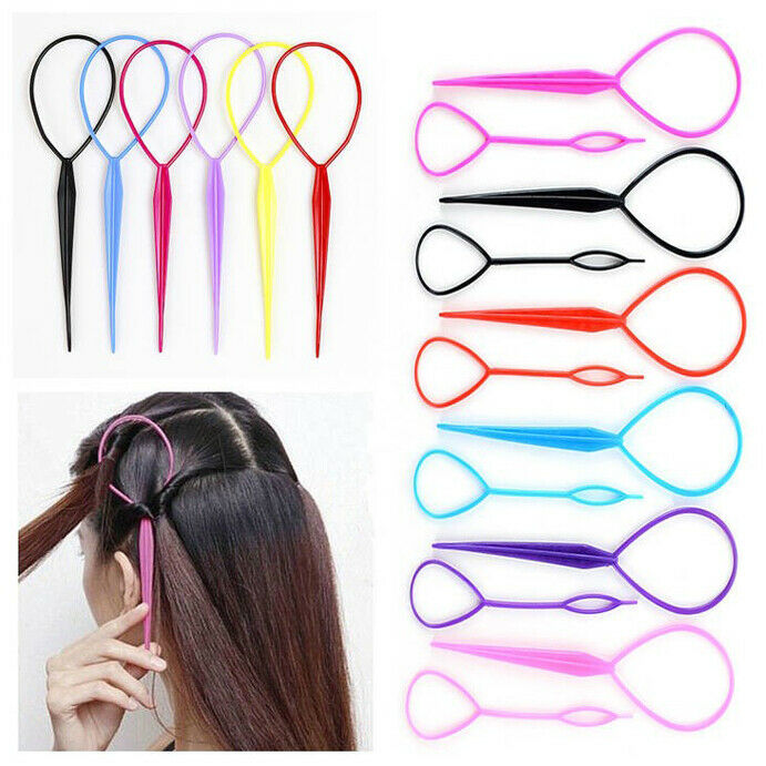 topsy hair braid ponytail maker styling tool 12 x pcs topsy hair braid ponytail styling maker tool 6colors free shipping ebay 4968