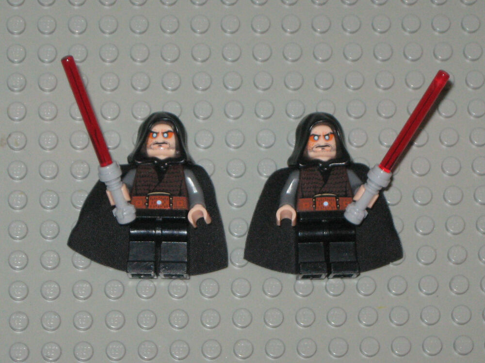 LEGO Minifigures STAR WARS 2 Custom Sith Lord Minifigs ...