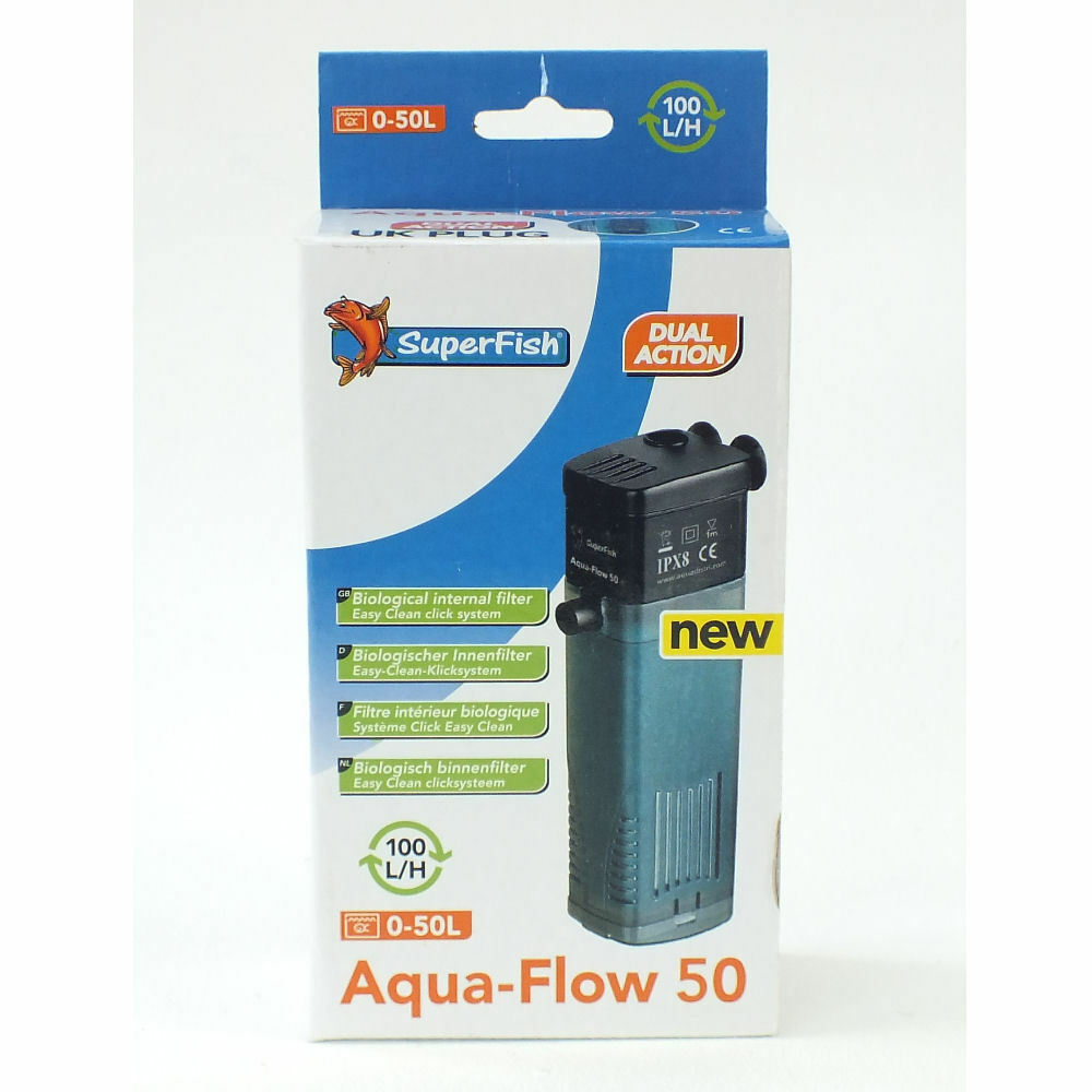 Superfish aqua flow filter pump fish tank filtration for Fish filter system