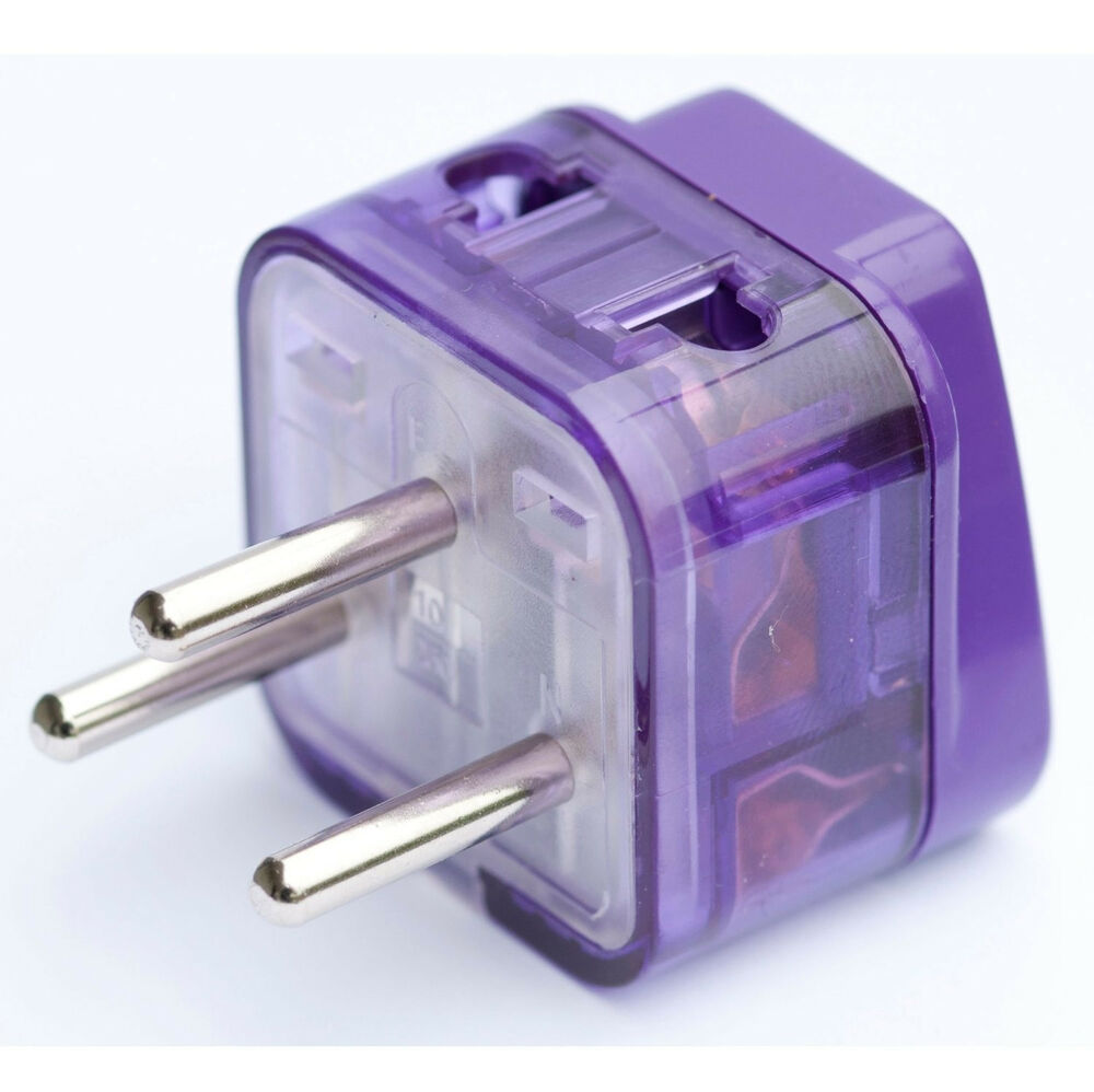 Ac Power Travel Adapter Converter Plug Electric Grounded Connector Jack Israel Ebay