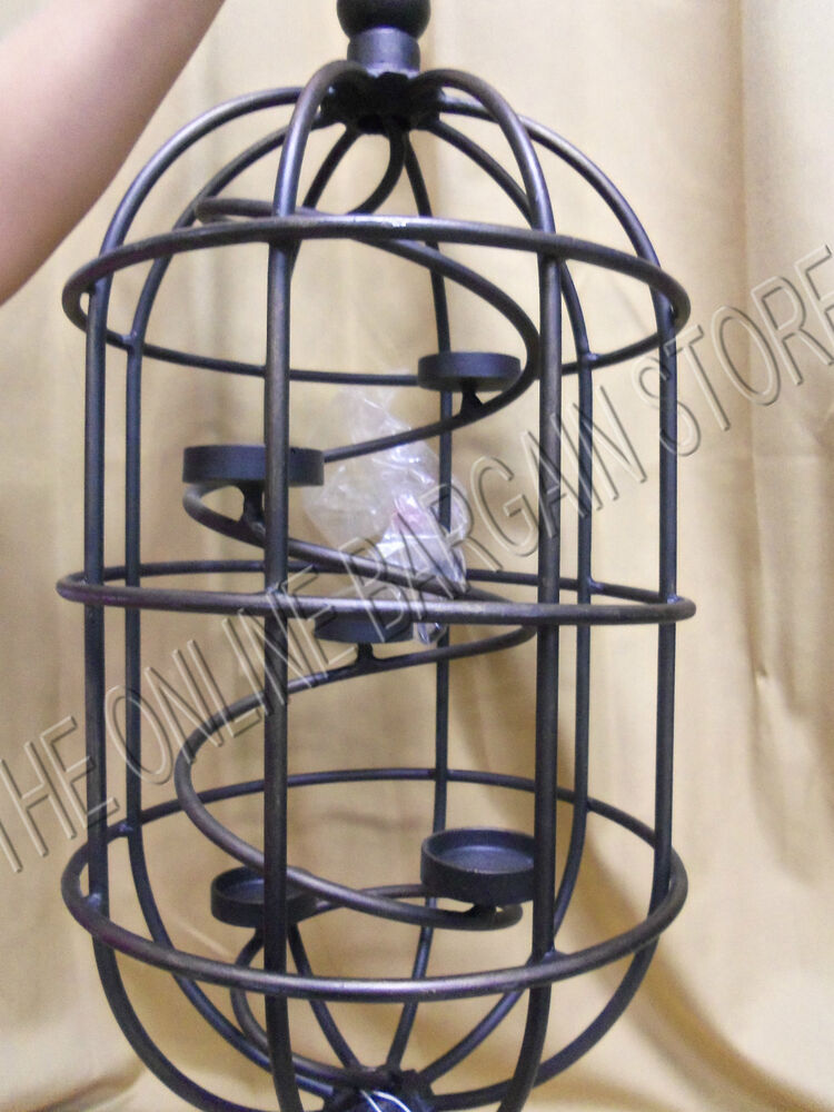 Iron Candle Stand Designs : Frontgate outdoor tea light candle holder birdcage wrought