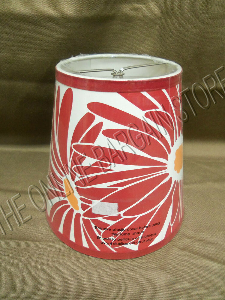 Pottery Barn Tall Accent Table Light Lamp Shade Red