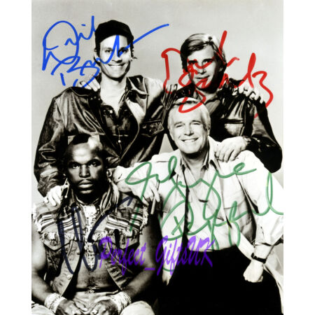 img-THE A-TEAM CAST SIGNED AUTOGRAPHED REPRO PHOTO PRINT N2 PEPPARD BENEDICT MR.T