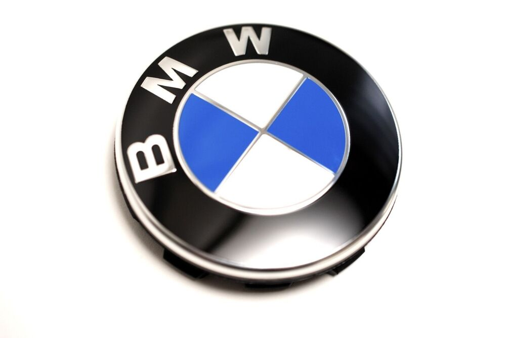 bmw e36 e39 e46 x5 new oem wheel emblem center hub cap. Black Bedroom Furniture Sets. Home Design Ideas