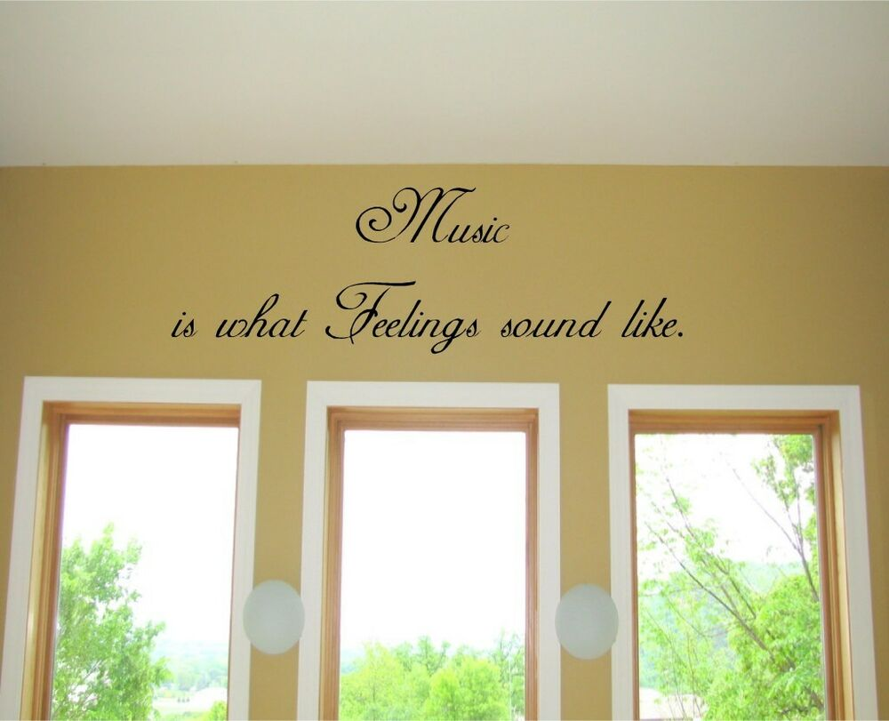 Music is what feelings sound like vinyl wall art words - Over the garden wall soundtrack vinyl ...