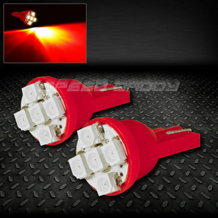Pair 5smd 5 3020 Smd Led T10 W5w 194 168 360 Red Interior Dome Wedge Light Bulb Ebay