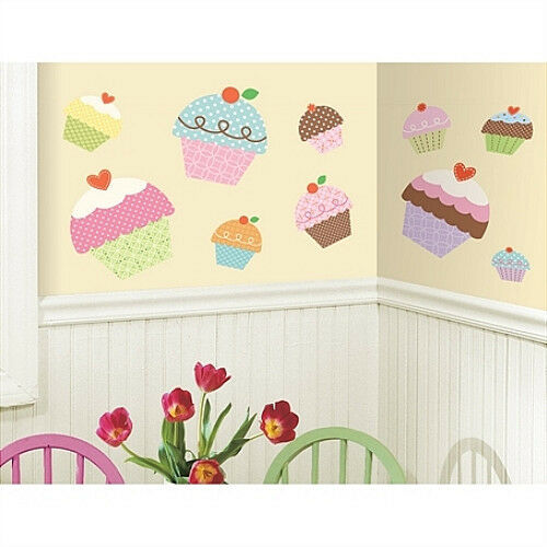 Cupcake Kitchen Decor: Happi CUPCAKE Giant Wall Stickers 10 Big Sweet Decals Room